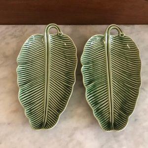 World Market-Tropical Leaf Plates-Set Of 2